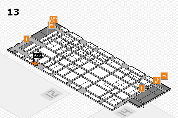 CARAVAN SALON 2017 hall map (Hall 13): stand A78