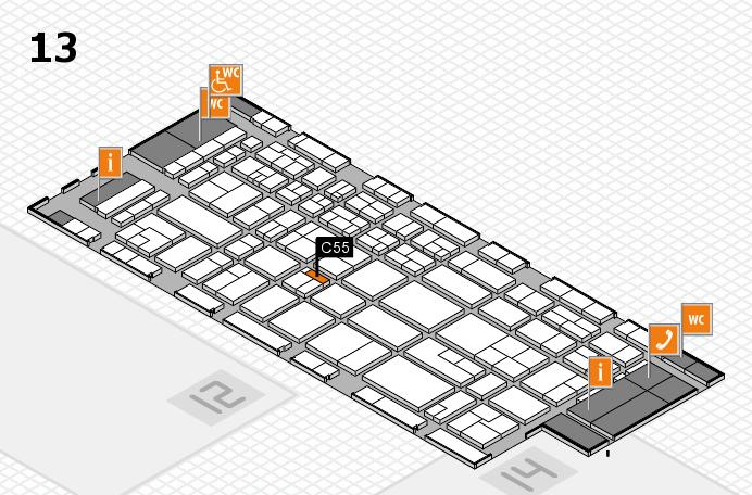 CARAVAN SALON 2017 Hallenplan (Halle 13): Stand C55