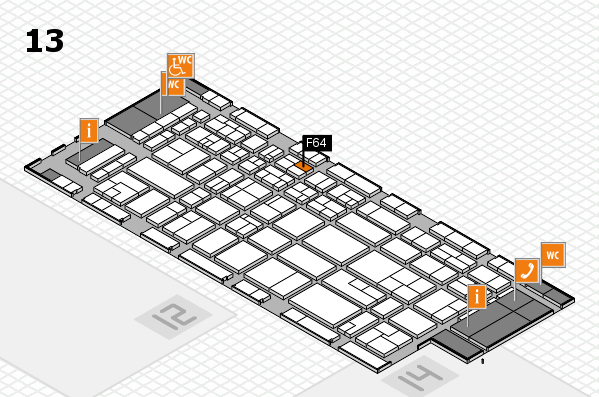 CARAVAN SALON 2017 hall map (Hall 13): stand F64