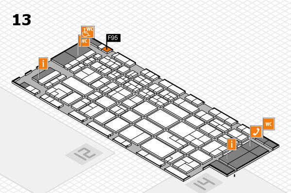 CARAVAN SALON 2017 hall map (Hall 13): stand F95