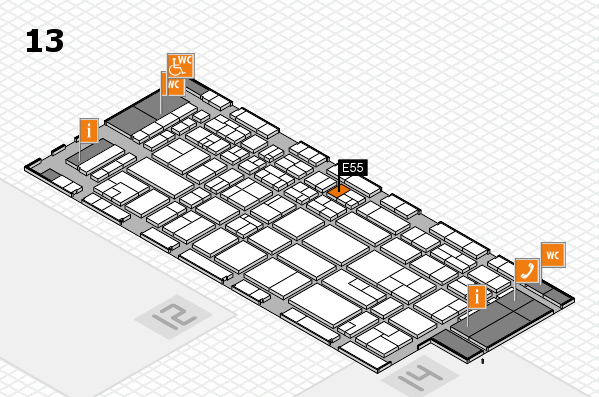CARAVAN SALON 2017 hall map (Hall 13): stand E55