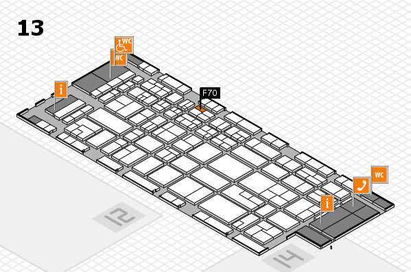 CARAVAN SALON 2017 hall map (Hall 13): stand F70