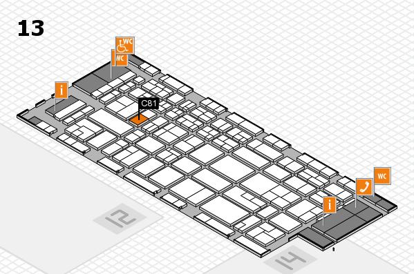 CARAVAN SALON 2017 hall map (Hall 13): stand C81