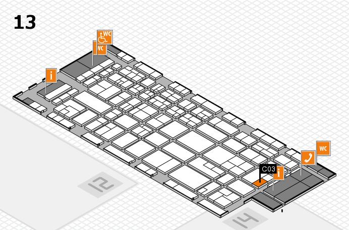 CARAVAN SALON 2017 Hallenplan (Halle 13): Stand C03