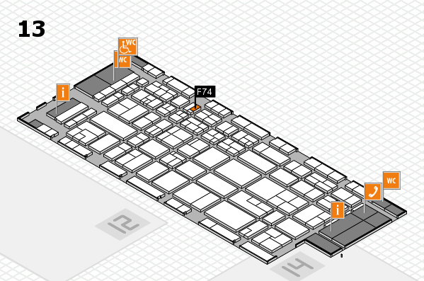CARAVAN SALON 2017 hall map (Hall 13): stand F74