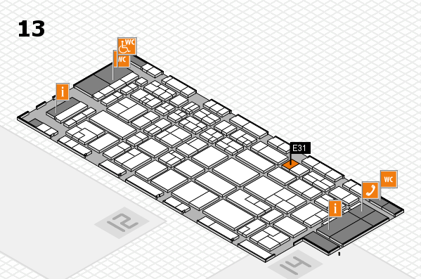CARAVAN SALON 2017 hall map (Hall 13): stand E31