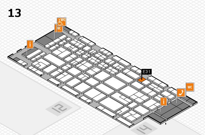 CARAVAN SALON 2017 Hallenplan (Halle 13): Stand E31