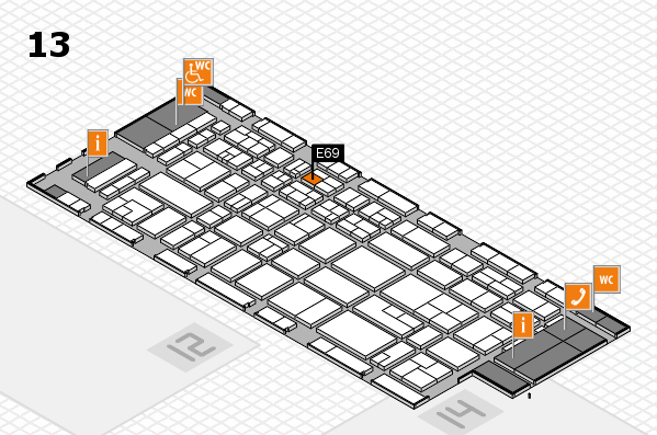 CARAVAN SALON 2017 hall map (Hall 13): stand E69