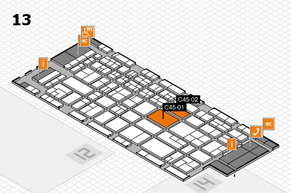 CARAVAN SALON 2017 hall map (Hall 13): stand C45-01, stand C45-02