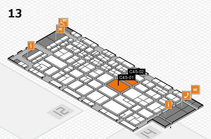 CARAVAN SALON 2017 Hallenplan (Halle 13): Stand C45-01, Stand C45-02