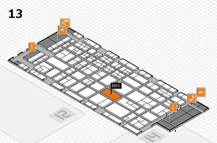 CARAVAN SALON 2017 Hallenplan (Halle 13): Stand B45