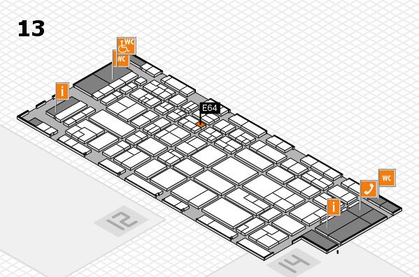 CARAVAN SALON 2017 hall map (Hall 13): stand E64
