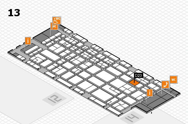 CARAVAN SALON 2017 hall map (Hall 13): stand D23