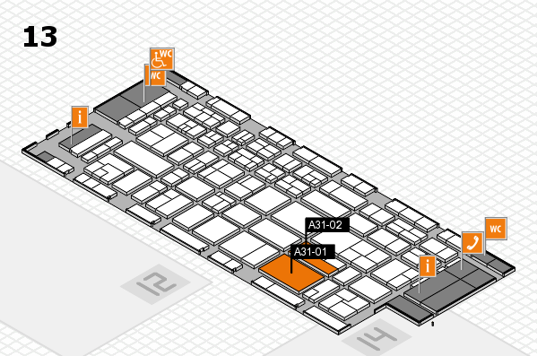 CARAVAN SALON 2017 hall map (Hall 13): stand A31-01, stand A31-02