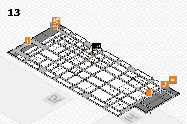 CARAVAN SALON 2017 hall map (Hall 13): stand E63