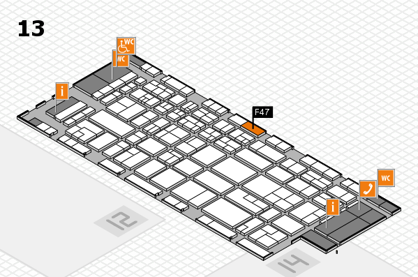 CARAVAN SALON 2017 hall map (Hall 13): stand F47