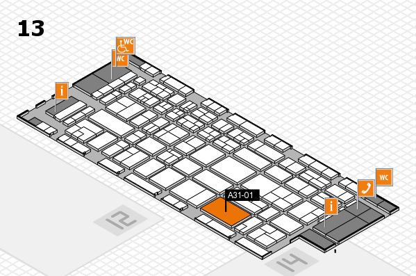 CARAVAN SALON 2017 hall map (Hall 13): stand A31-01