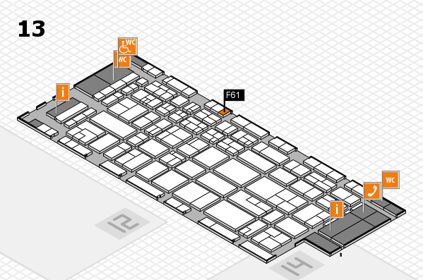 CARAVAN SALON 2017 hall map (Hall 13): stand F61