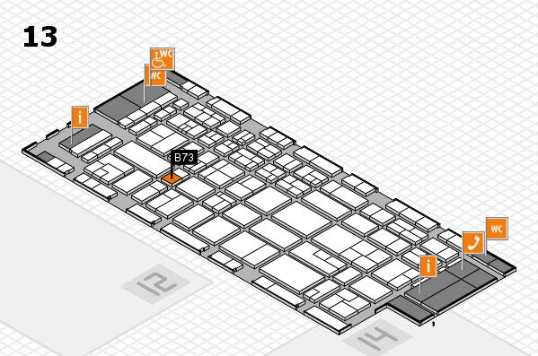 CARAVAN SALON 2017 Hallenplan (Halle 13): Stand B73