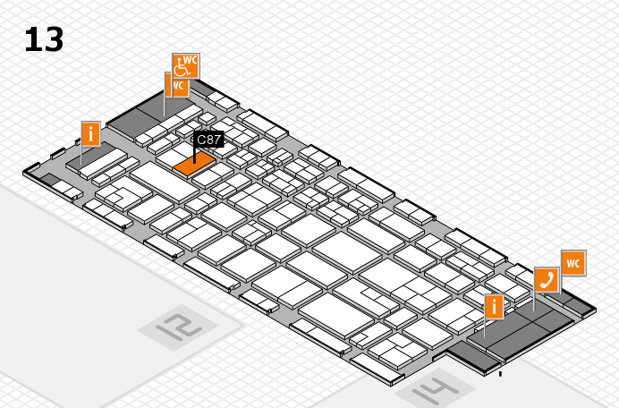 CARAVAN SALON 2017 hall map (Hall 13): stand C87