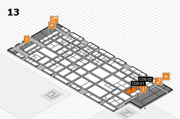 CARAVAN SALON 2017 Hallenplan (Halle 13): Stand C05-01, Stand C05-02