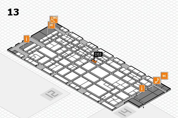 CARAVAN SALON 2017 hall map (Hall 13): stand D53