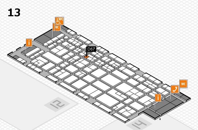 CARAVAN SALON 2017 Hallenplan (Halle 13): Stand D67