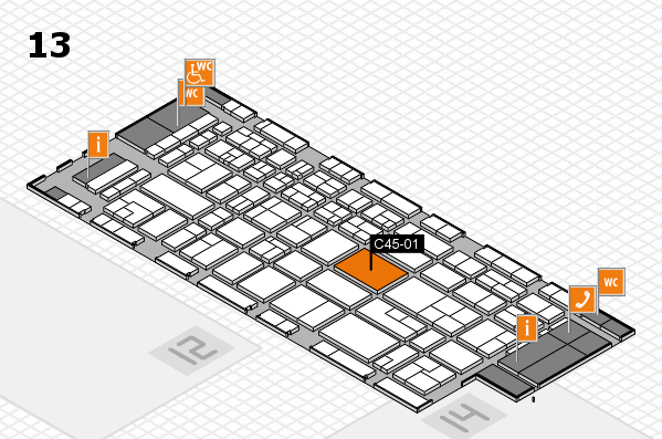 CARAVAN SALON 2017 Hallenplan (Halle 13): Stand C45-01