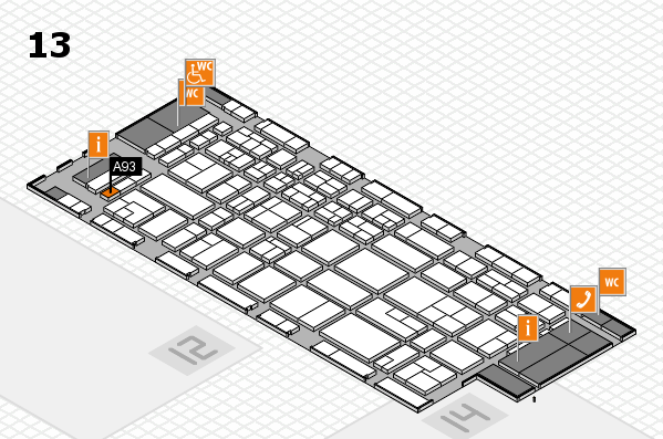 CARAVAN SALON 2017 hall map (Hall 13): stand A93