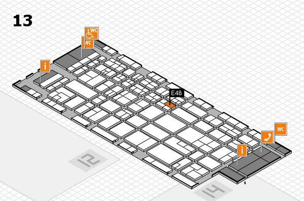 CARAVAN SALON 2017 hall map (Hall 13): stand E48