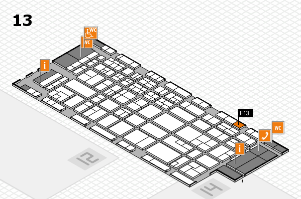 CARAVAN SALON 2017 hall map (Hall 13): stand F13