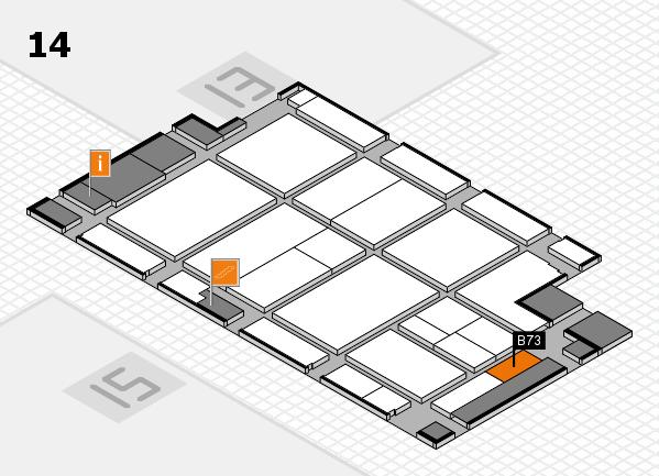 CARAVAN SALON 2017 hall map (Hall 14): stand B73