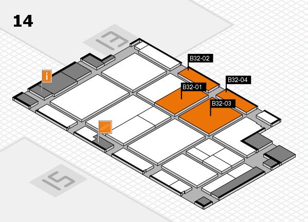 CARAVAN SALON 2017 hall map (Hall 14): stand B32-01, stand B32-04