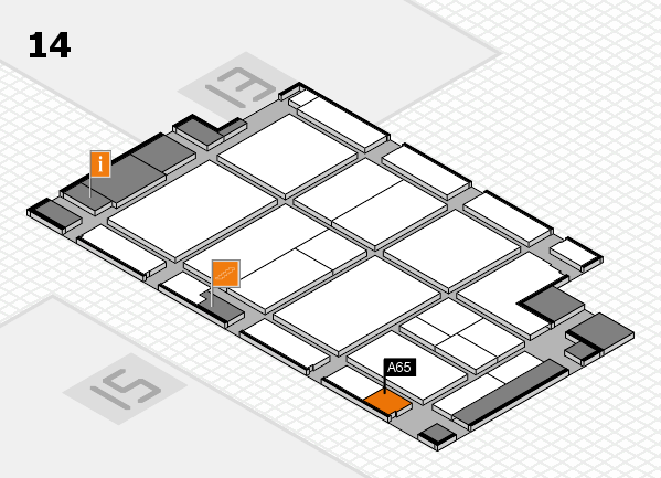 CARAVAN SALON 2017 hall map (Hall 14): stand A65