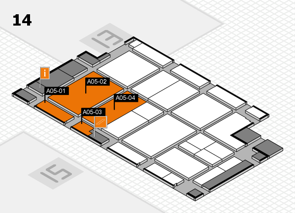 CARAVAN SALON 2017 hall map (Hall 14): stand A05-01, stand A05-04