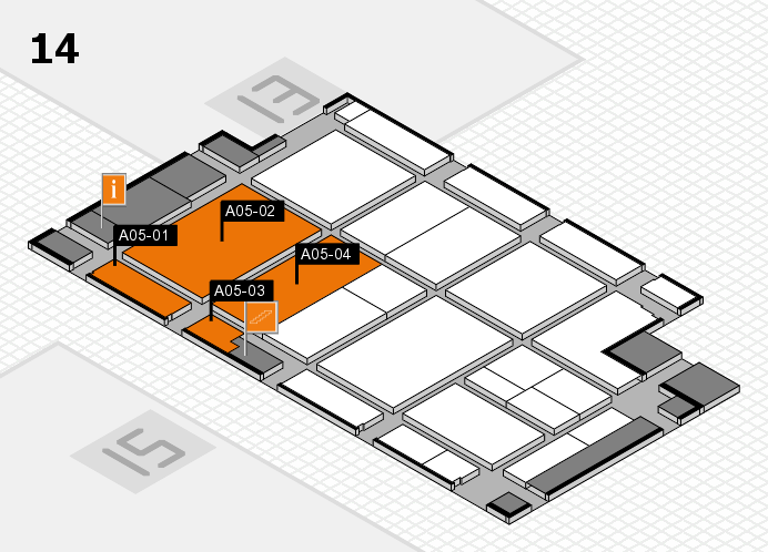 CARAVAN SALON 2017 Hallenplan (Halle 14): Stand A05-01, Stand A05-04
