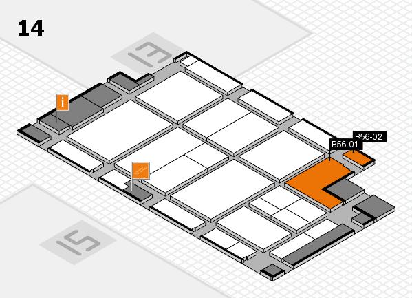 CARAVAN SALON 2017 hall map (Hall 14): stand B56-01, stand B56-02