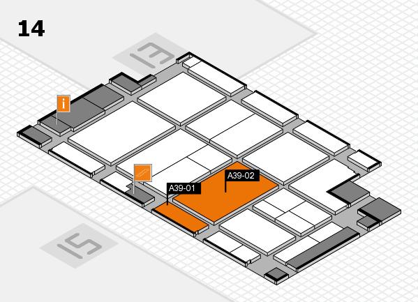 CARAVAN SALON 2017 Hallenplan (Halle 14): Stand A39-01, Stand A39-02