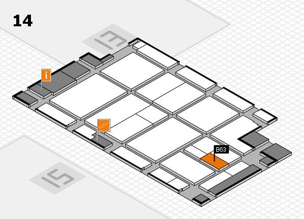 CARAVAN SALON 2017 hall map (Hall 14): stand B63