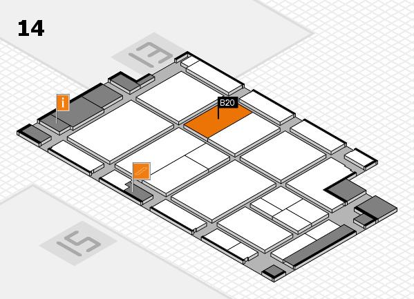 CARAVAN SALON 2017 hall map (Hall 14): stand B20