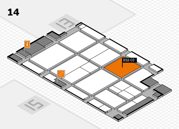 CARAVAN SALON 2017 hall map (Hall 14): stand B32-03
