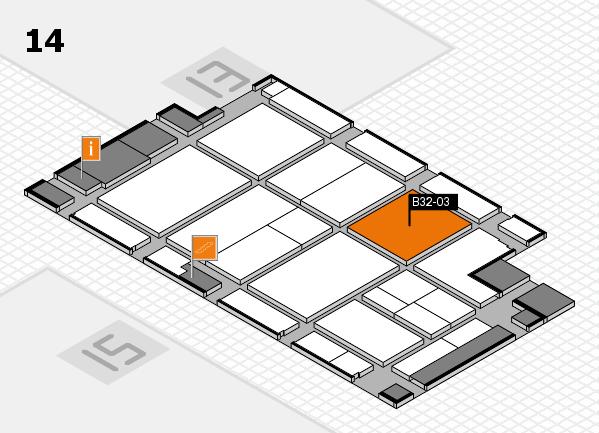 CARAVAN SALON 2017 hall map (Hall 14): stand B32-03