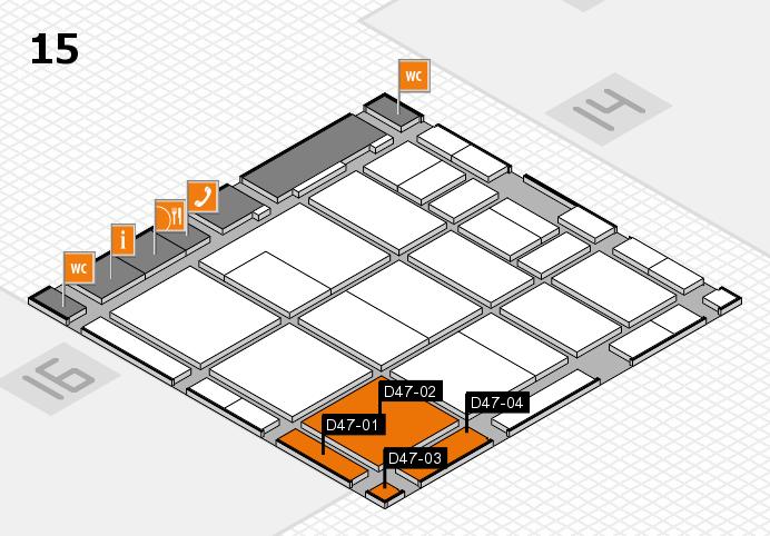 CARAVAN SALON 2017 Hallenplan (Halle 15): Stand D47-01, Stand D47-04