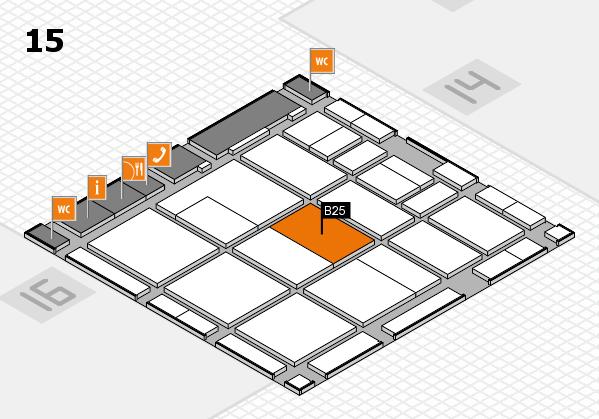 CARAVAN SALON 2017 hall map (Hall 15): stand B25