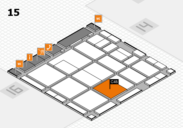 CARAVAN SALON 2017 hall map (Hall 15): stand C48