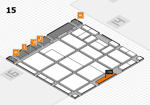 CARAVAN SALON 2017 hall map (Hall 15): stand C58