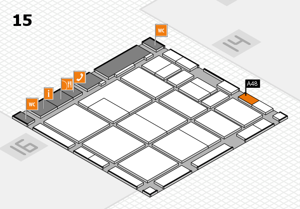 CARAVAN SALON 2017 hall map (Hall 15): stand A48