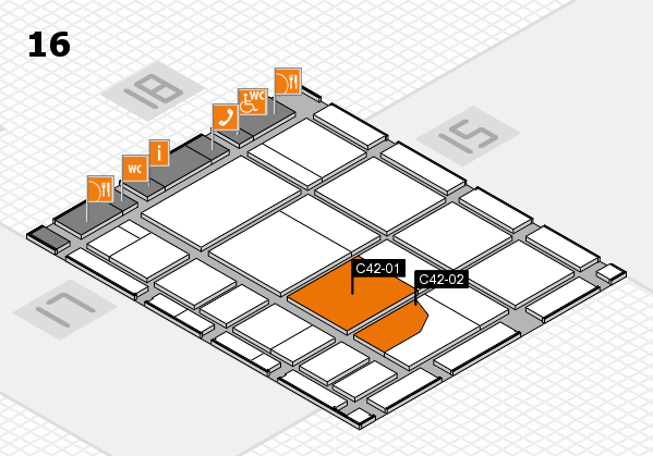 CARAVAN SALON 2017 hall map (Hall 16): stand C42-01, stand C42-02