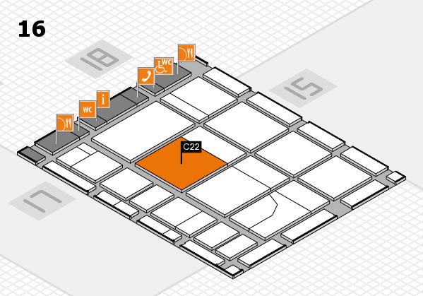 CARAVAN SALON 2017 Hallenplan (Halle 16): Stand C22
