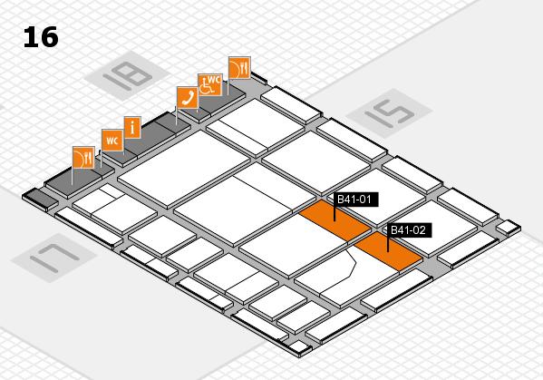 CARAVAN SALON 2017 hall map (Hall 16): stand B41-01, stand B41-02
